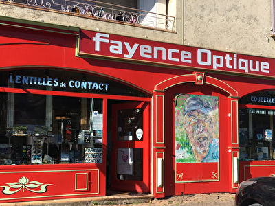 Local commercial Fayence murs et fond